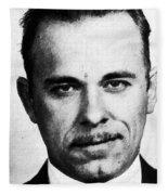 Painting Of John Dillinger Mug Shot Fleece Blanket