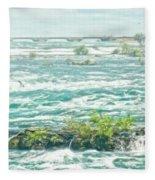 Painting Of Niagara Falls Fleece Blanket