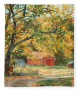 Painting The Fall Colors Fleece Blanket