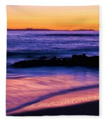 Painting The Ocean Fleece Blanket