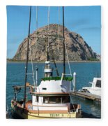 Painting The Trudy S Morro Bay Fleece Blanket