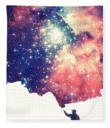Painting The Universe Awsome Space Art Design Fleece Blanket