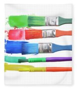 Paints And Brushes  Fleece Blanket