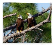 Pair Of American Bald Eagle Fleece Blanket