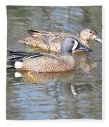 Pair Of Blue Wings Fleece Blanket