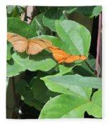 Pair Of Butterflies Fleece Blanket