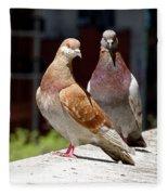 Pair Of Pigeons Fleece Blanket