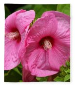 Paired In Pink Fleece Blanket