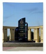 Pakistan Air Force Martyrs Monument Honoring Dead Pakistani Airmen At Paf Museum Karachi Pakistan Fleece Blanket