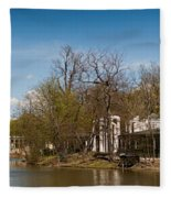 Palace In Royal Baths Park In Warsaw Fleece Blanket