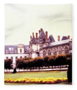 Palace Of Fontainebleau 1955 Fleece Blanket