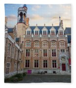 Palace Of Gruuthuse In Brugge Fleece Blanket