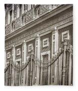 Palacio De San Telmo Facade Fleece Blanket
