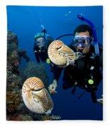 Palau Underwater Fleece Blanket