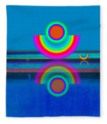 Pale Blue Reflections Fleece Blanket