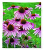Pale Purple Coneflowers Fleece Blanket