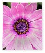 Pale Purple Flower Fleece Blanket