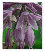 Pale Purple Starbursts Fleece Blanket