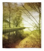 Pale Reflections Of Life Fleece Blanket
