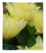 Pale Soft And Yellow Flower Abstract At Sunset Fleece Blanket