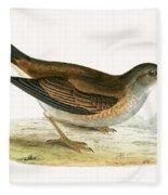 Pale Thrush Fleece Blanket