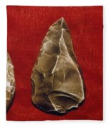 Paleolithic Tools Fleece Blanket