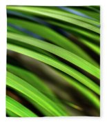 Palm Abstract By Kaye Menner Fleece Blanket