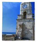Palm Beach Clock Tower  Fleece Blanket