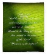 Palm Branch Fleece Blanket