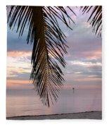 Palm Courtain II Fleece Blanket