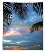 Palm Curtains Fleece Blanket