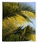 Palm Detail Fleece Blanket