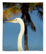 Palm Egret Fleece Blanket