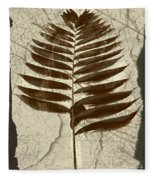 Palm Fossil Sandstone  Fleece Blanket