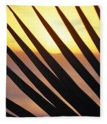 Palm Frond Detail Fleece Blanket