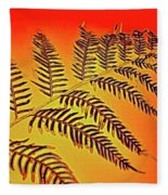Palm Frond In The Summer Heat Fleece Blanket