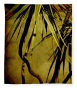 Palm Fronds Are Green Fleece Blanket