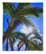 Palm Gazing Fleece Blanket