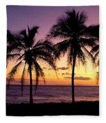 Palm Horizons Fleece Blanket