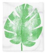 Palm Leaf- Art By Linda Woods Fleece Blanket