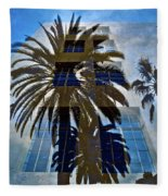 Palm Mural Fleece Blanket