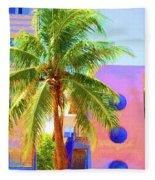 Palm Of Miami Fleece Blanket