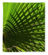 Palm Pattern No.1 Fleece Blanket