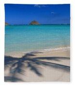 Palm Shadows Fleece Blanket