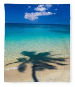 Palm Shadows Fleece Blanket