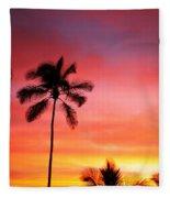 Palm Silhouettes Fleece Blanket