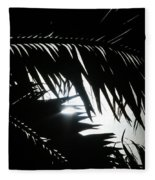 Palm Silhouettes Kaanapali Fleece Blanket