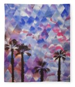 Palm Springs Sunset Fleece Blanket