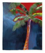 Palm Tree- Art By Linda Woods Fleece Blanket