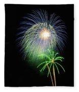 Palm Tree Fireworks Fleece Blanket